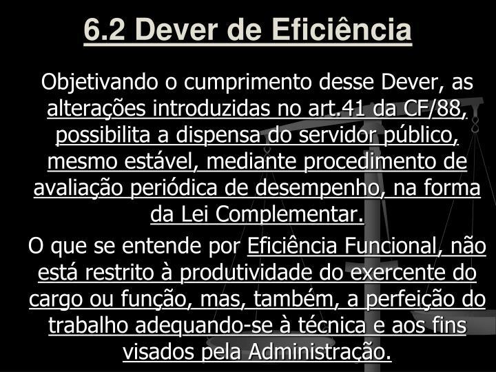 6.2 Dever de Eficiência