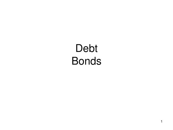 Debt bonds