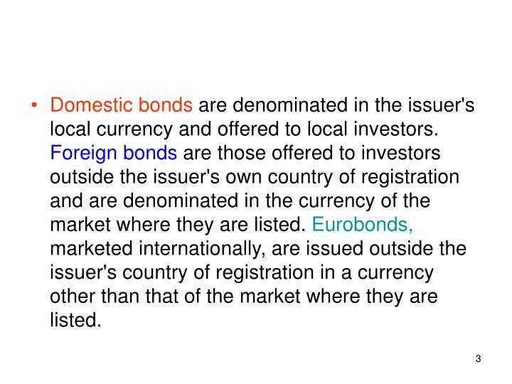 Domestic bonds