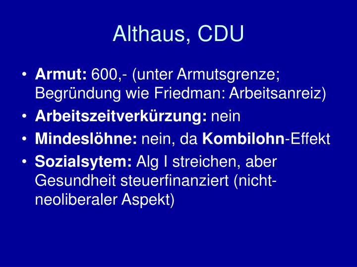 Althaus, CDU