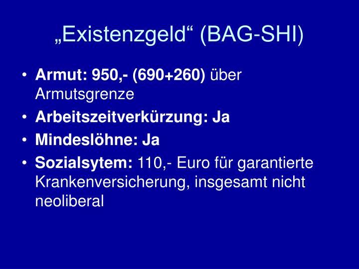 """""""Existenzgeld"""" (BAG-SHI)"""