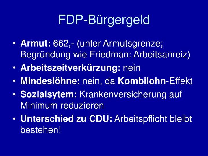 FDP-Bürgergeld