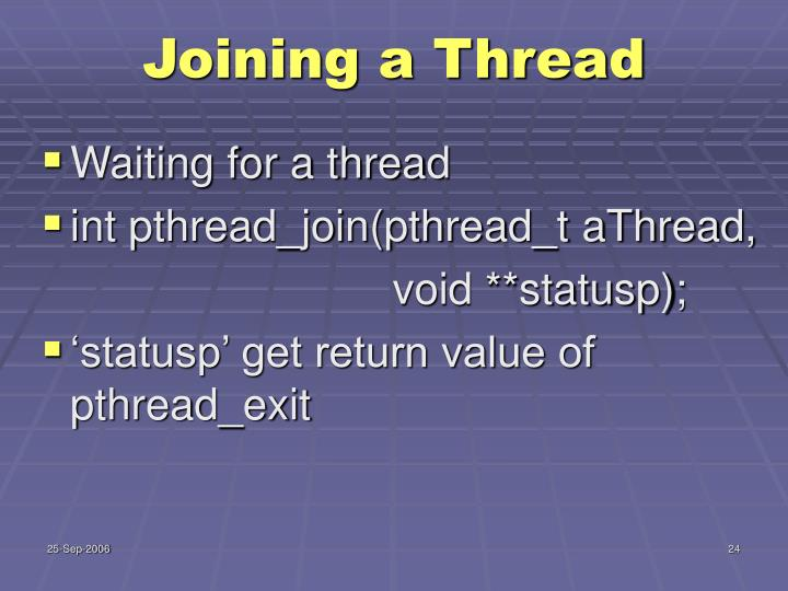 Joining a Thread