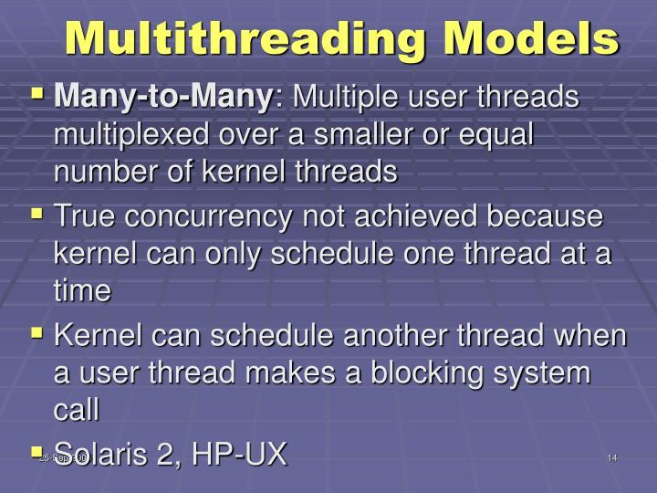 Multithreading Models