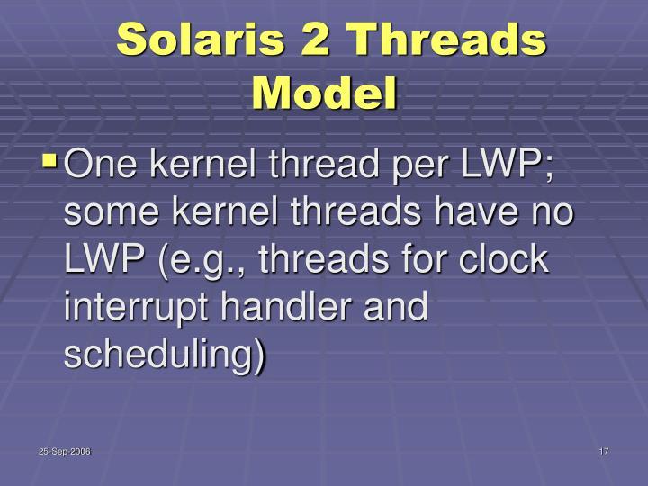 Solaris 2 Threads Model