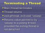 terminating a thread