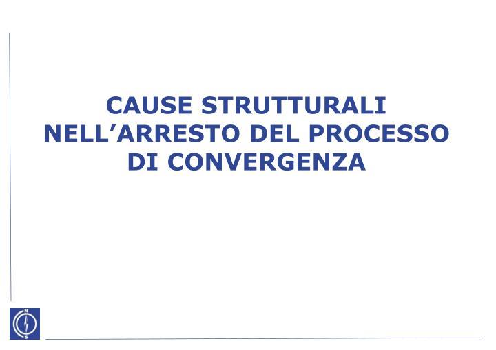 CAUSE STRUTTURALI NELL'ARRESTO DEL PROCESSO
