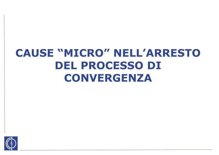 """CAUSE """"MICRO"""" NELL'ARRESTO DEL PROCESSO"""