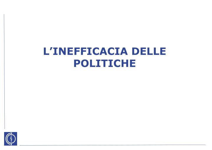 L'INEFFICACIA DELLE POLITICHE