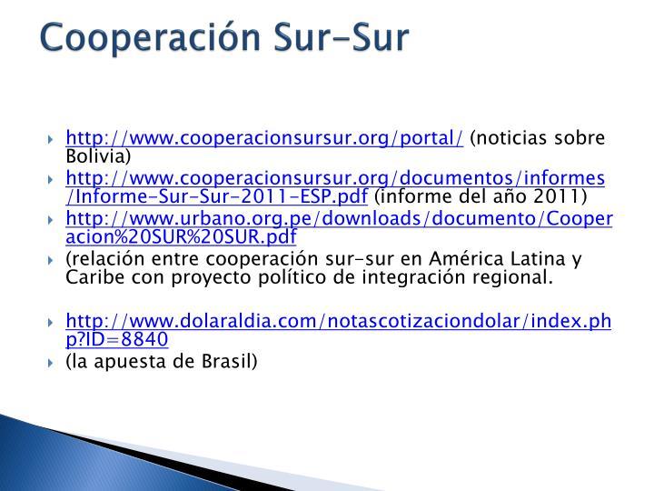 Cooperacin Sur-Sur