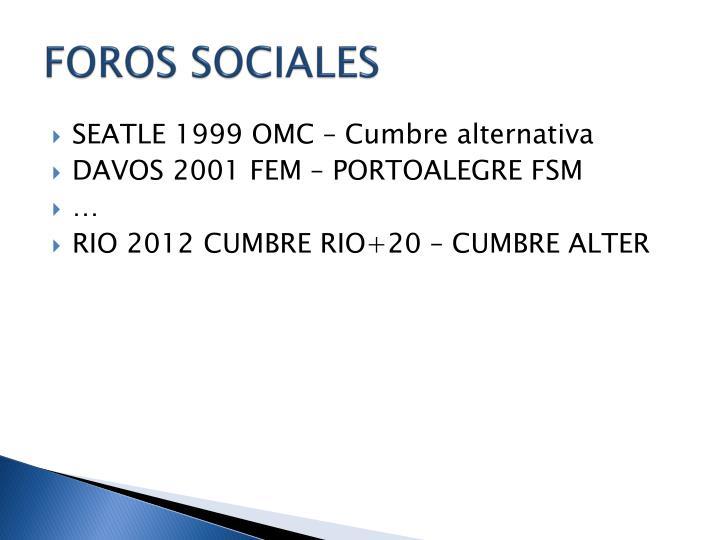 FOROS SOCIALES