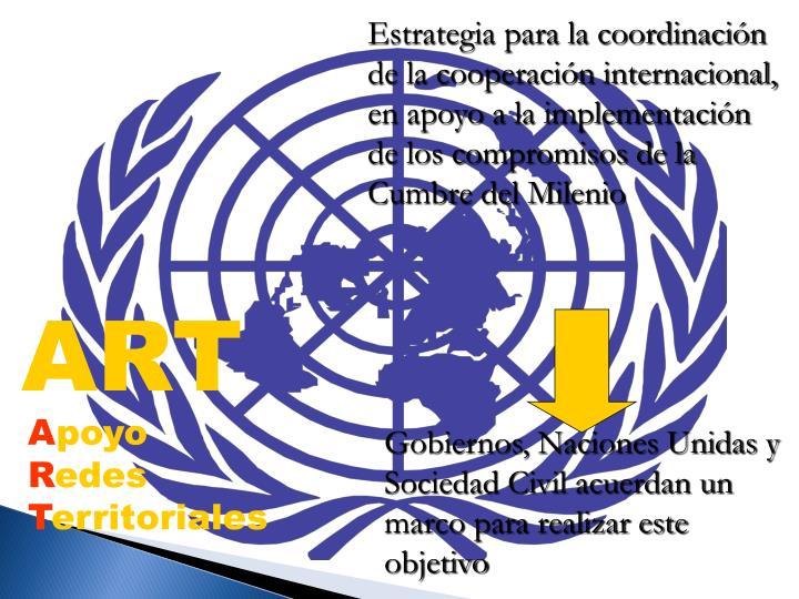 Estrategia para la coordinacin de la cooperacin internacional,