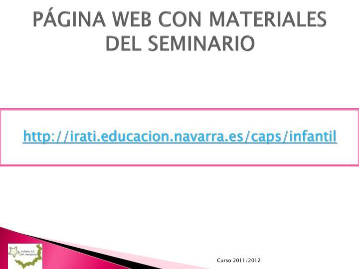 PÁGINA WEB CON MATERIALES DEL SEMINARIO