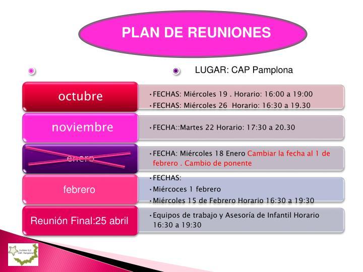 LUGAR: CAP Pamplona