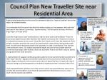 council plan new traveller site near residential area