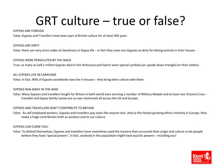 GRT culture – true or false?