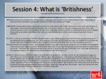 session 4 what is britishness with thanks to the bbc and stockport inclusion