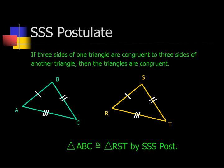 SSS Postulate