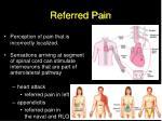 referred pain