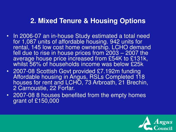 2. Mixed Tenure & Housing Options