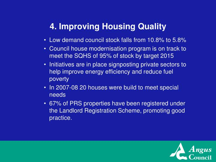 4. Improving Housing Quality