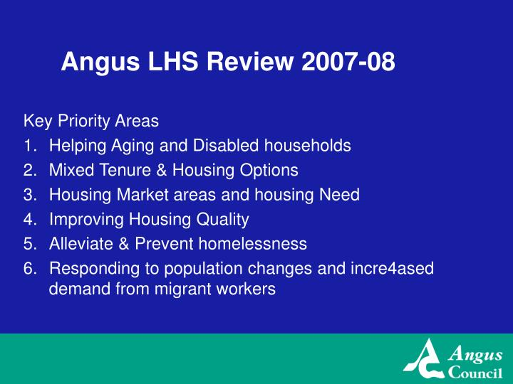 Angus LHS Review 2007-08