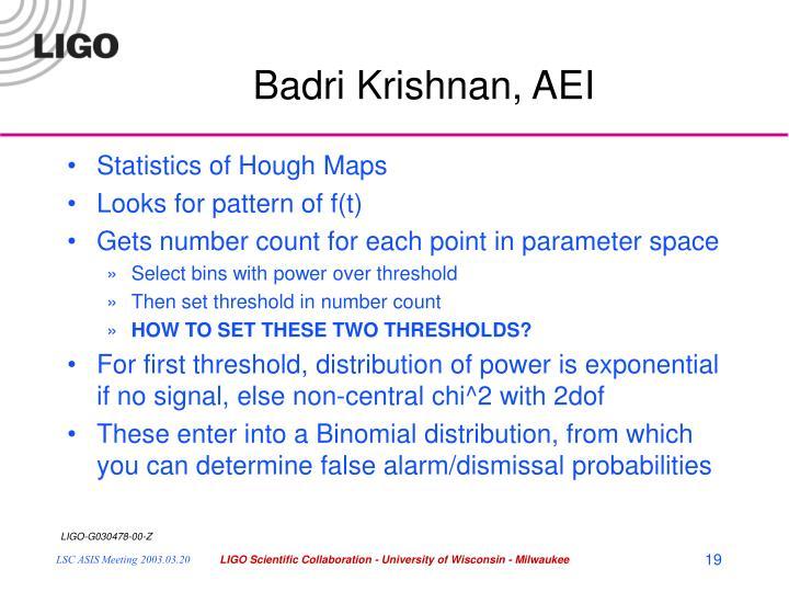Badri Krishnan, AEI