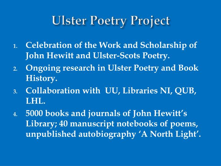 Ulster Poetry Project