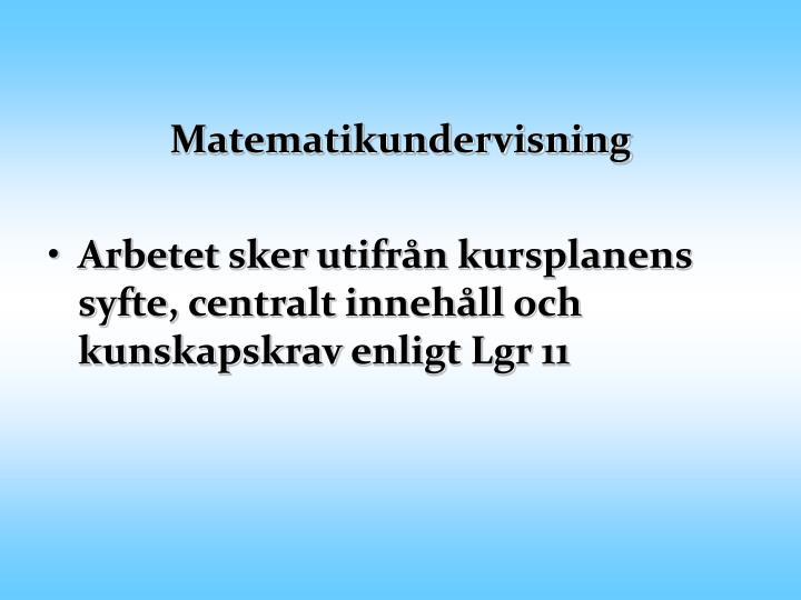 Matematikundervisning