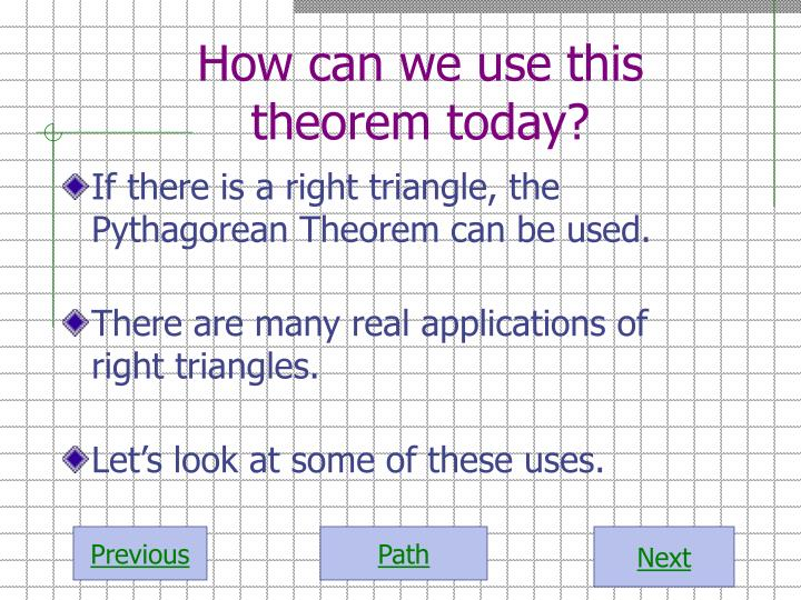How can we use this theorem today?
