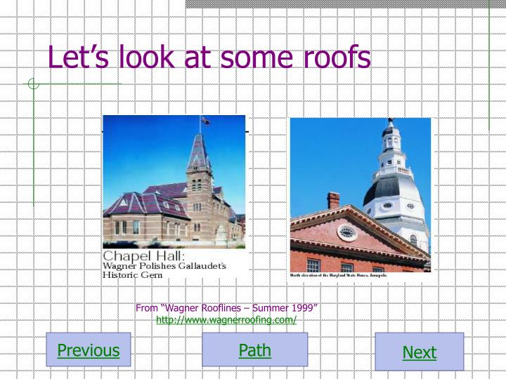 Let's look at some roofs
