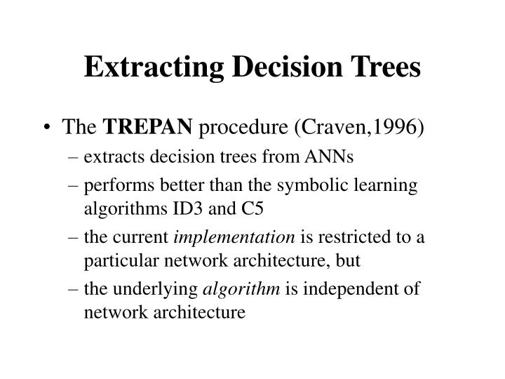 Extracting Decision Trees