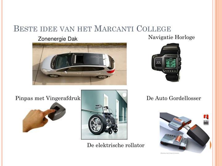 Beste idee van het Marcanti College