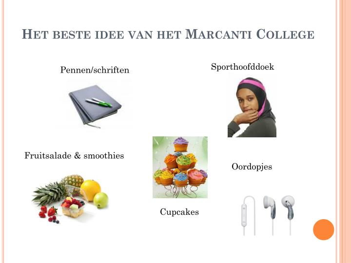 Het beste idee van het Marcanti College