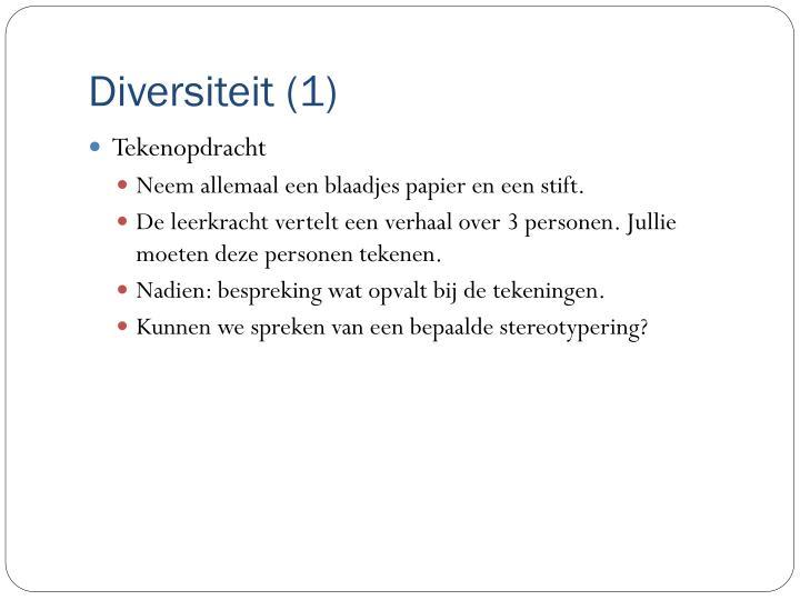 Diversiteit (1)