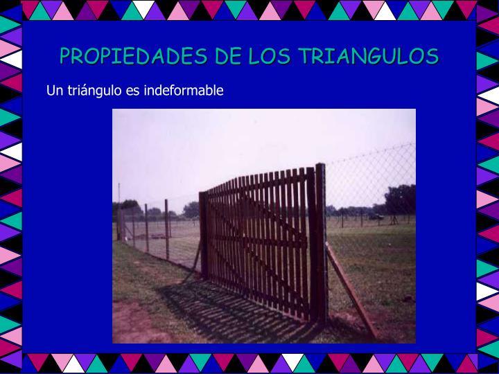 PROPIEDADES DE LOS TRIANGULOS