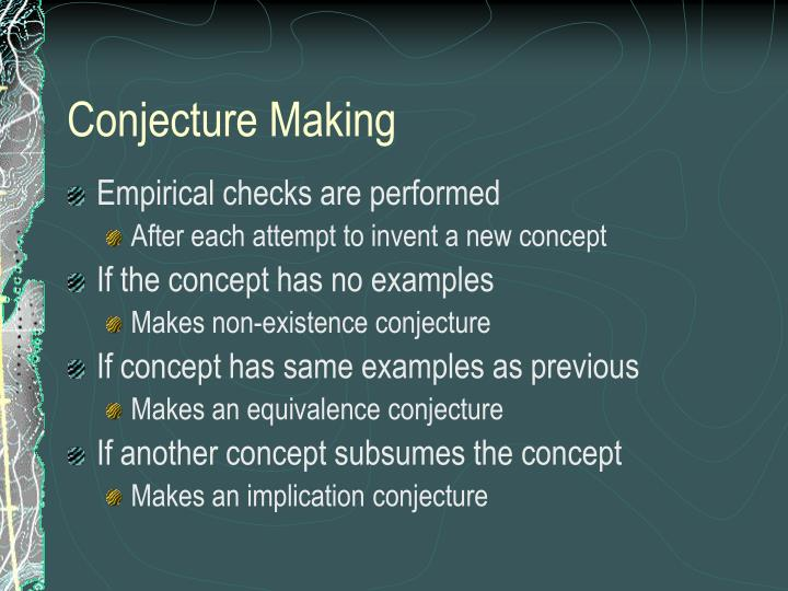 Conjecture Making