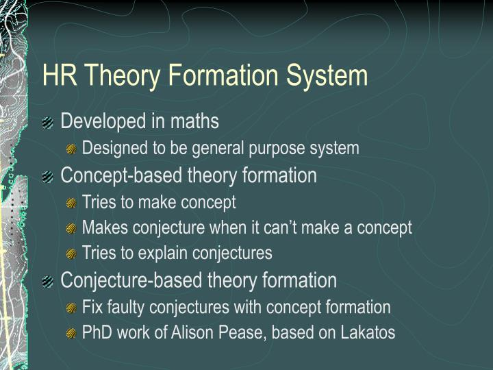 HR Theory Formation System