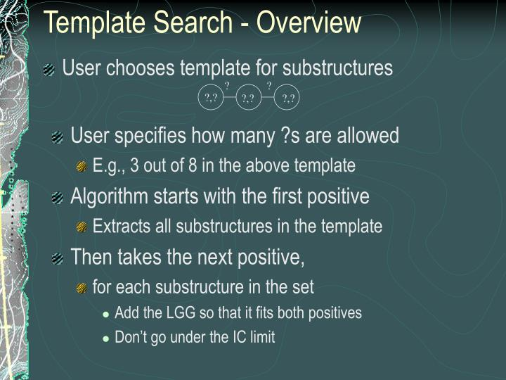 Template Search - Overview