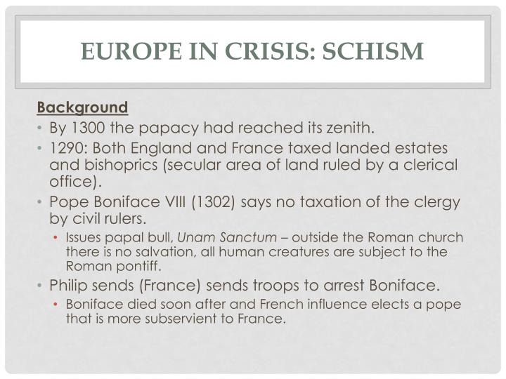Europe in crisis: