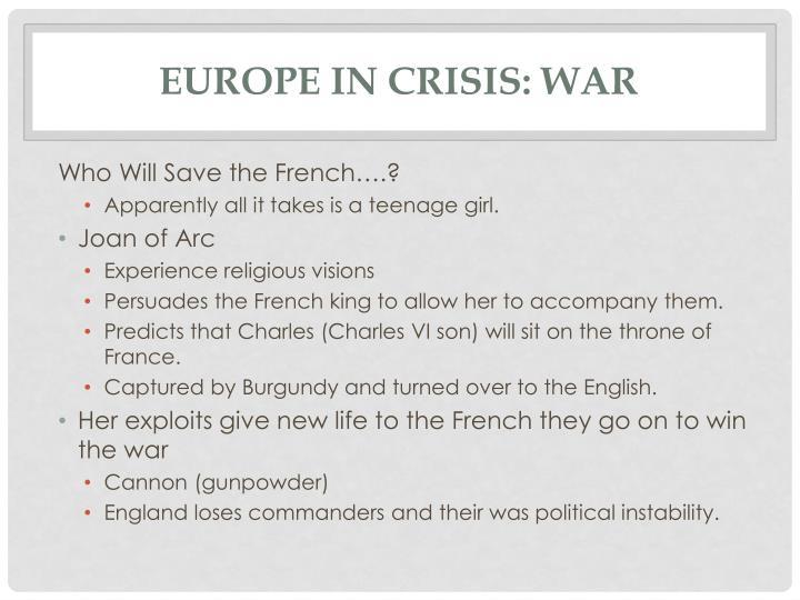 Europe in crisis: War