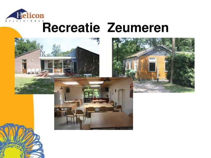 Recreatie  Zeumeren