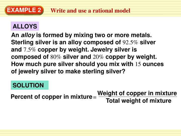 Weight of copper in mixture