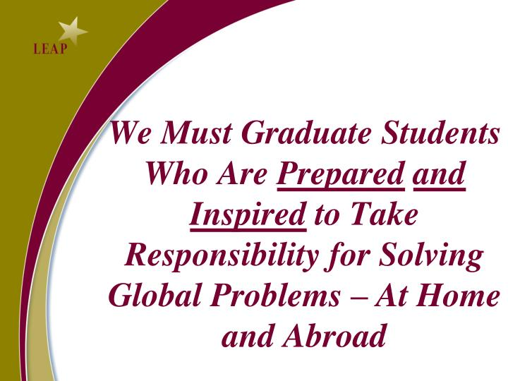 We Must Graduate Students Who Are