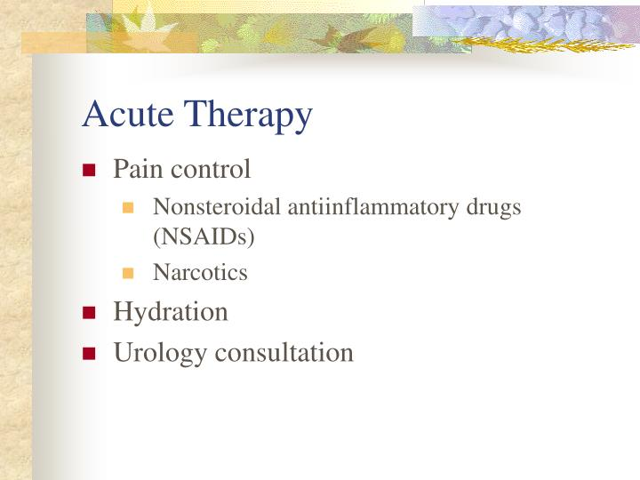 Acute Therapy