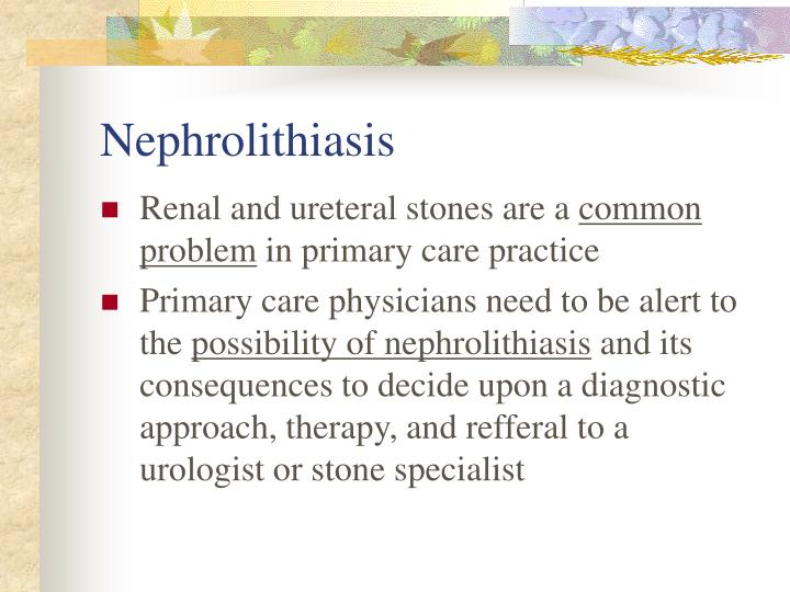 Nephrolithiasis