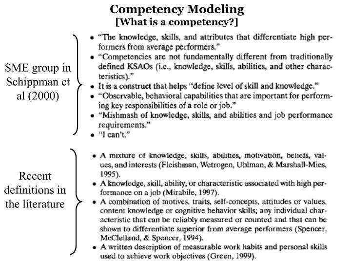 Competency Modeling