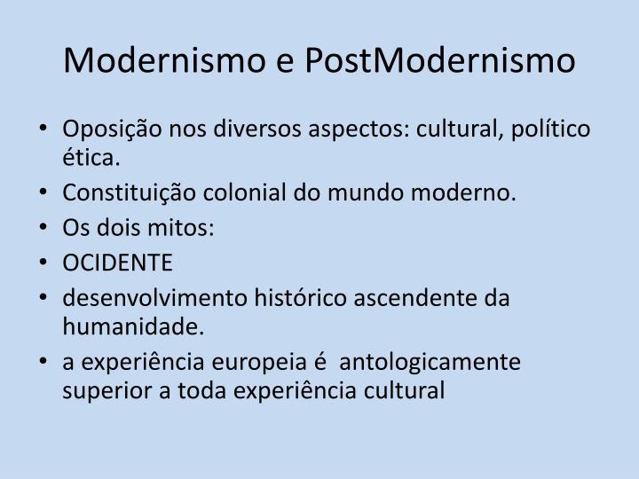 Modernismo e