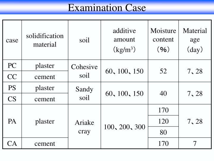 Examination Case