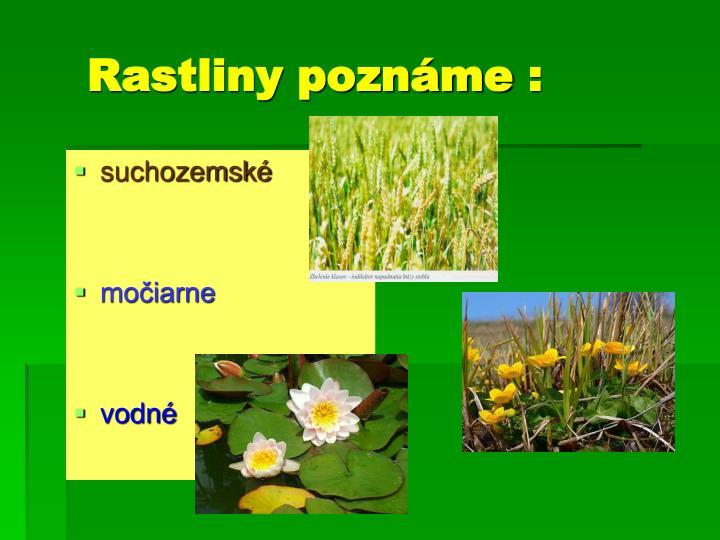 Rastliny poznáme